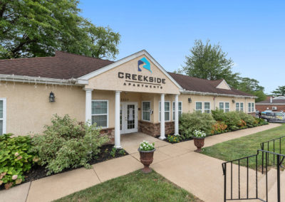 Exterior of the Creekside Apartments leasing center